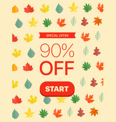 special offer concept 90 percent off vector image