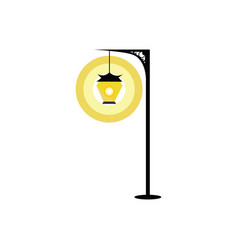 street lamp hand drawn design on white background vector image