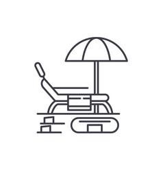summer rest line icon concept summer rest vector image