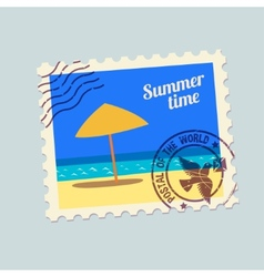 Summertime holidays postmark vector
