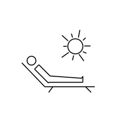 Sunbathe icon vector
