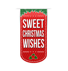 sweet christmas wishes banner design vector image