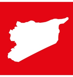 Syria map on res background vector