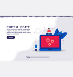 System update maintenance system concept with vector