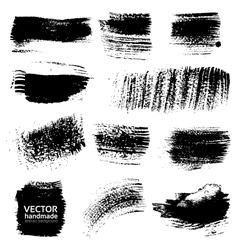 Textured brush strokes drawn a flat brush and ink vector image