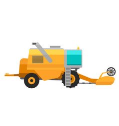 Type agricultural yellow vehicle or harvester vector