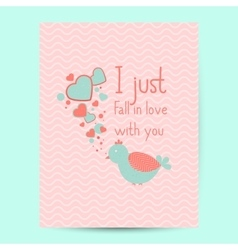 Valentines day gift card Handdrawn design vector
