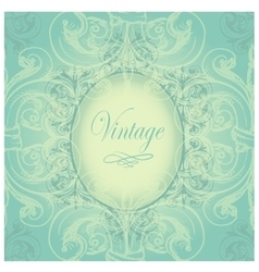 Vintage border with sample text on a seamless vector image
