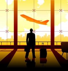 waiting at the airport vector image