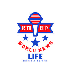world life news logo original design estb 1987 vector image