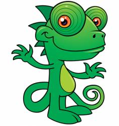 chameleon character vector image vector image