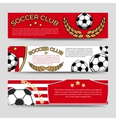 Footbal banners set vector image
