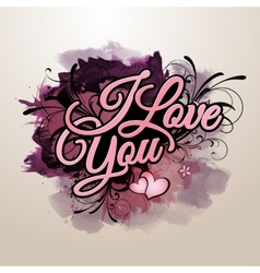 I love you inscription vector image
