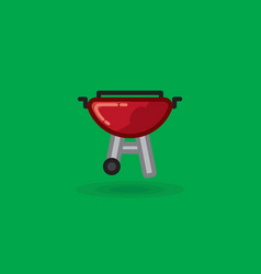 icon on barbecue for picnic vector image vector image