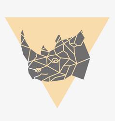 rhinoceros head isolated icon vector image