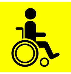 sign wheelchair vector image vector image