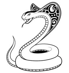 Snake tribal tatto vector image
