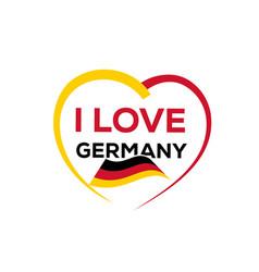 i love germany vector image