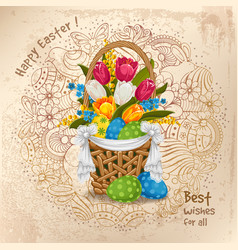 easter greeting design vector image vector image