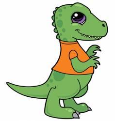 Baby dinosaur character vector