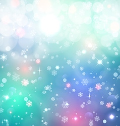 Christmas background Snow blured background vector image vector image