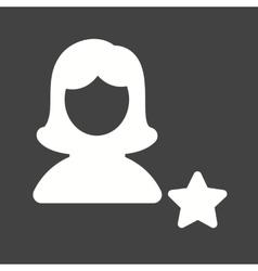 Favorite Female Profile vector image vector image