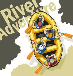River Adventure vector image