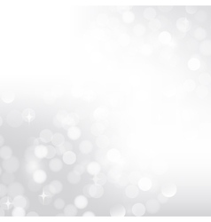 Silver bokeh background vector image