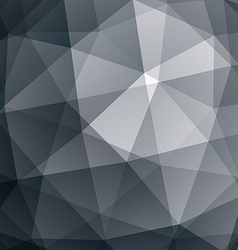 Abstract geometric 3D background grayscale vector