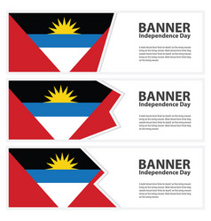 antigua and barbuda flag banners collection vector image