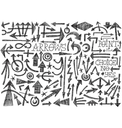 Arrows doodles vector