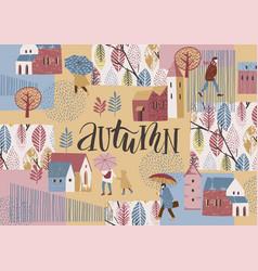 autumn design temlate vector image