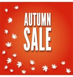 Autumn sale fall leaves vector