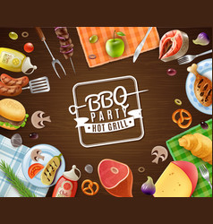Bbq party frame vector