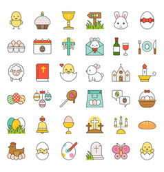 Big set of easter bunny vector