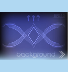 Blue background and white lines vector