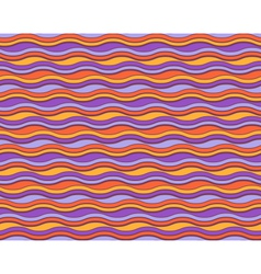 Bright abstract seamless horizontal wave pattern vector