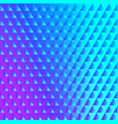 brilliant blue pink pattern of triangles vector image