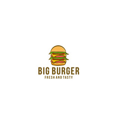 burger pile logo designs inspiration vector image