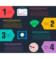 Business flat infographic template with text vector image