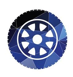 Car wheel icon abstract triangle vector
