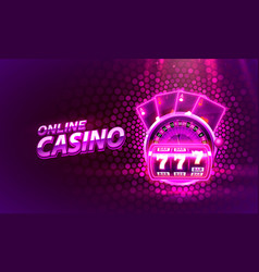 casino 3d cover slot machines and roulette vector image
