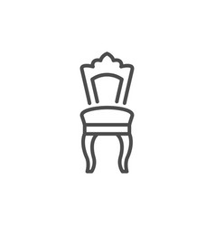 Classic chair line icon vector