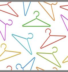 Color hangers pattern vector