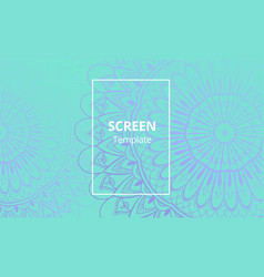 computer screen design template with sofisticated vector image