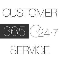 customer service 365-7-24 vector image