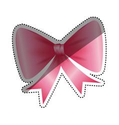 Decorative bow ribbon vector