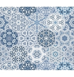 Eastern seamless pattern tiles vector