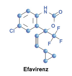 efavirenz antiretroviral medication vector image