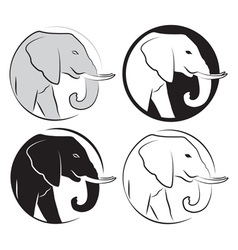 Elephant set vector
